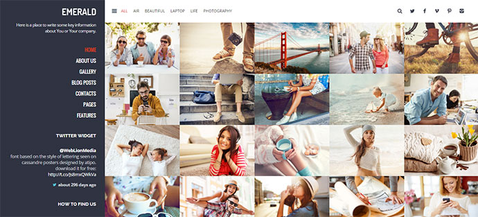 Emerald - Creative Portfolio WordPress Theme