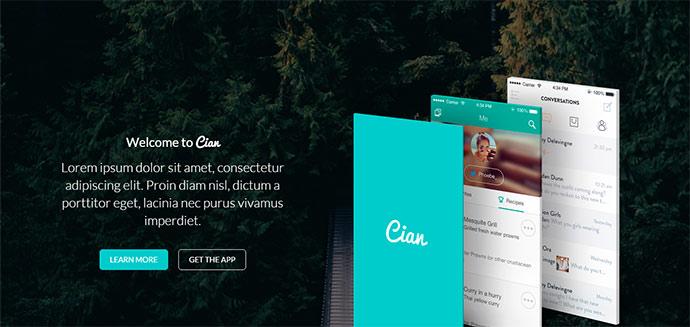 Cian app landing page