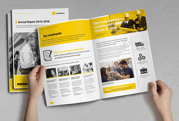 Best Corporate InDesign Annual Report Templates Web Graphic - Annual report design templates 2016