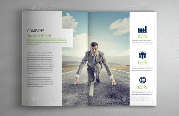 Best Corporate InDesign Annual Report Templates Web Graphic - Indesign template brochure