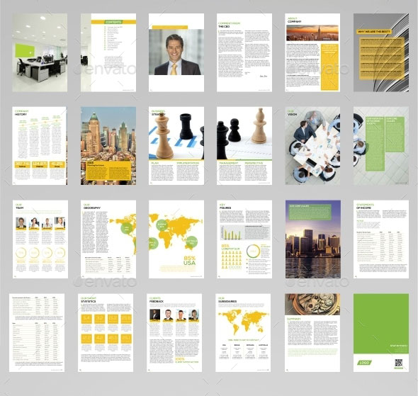 Lovely Download Annual Report With Annual Report Template Design