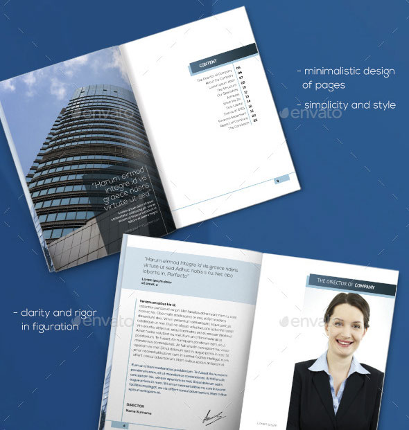 40 Best Corporate Indesign Annual Report Templates | Web & Graphic