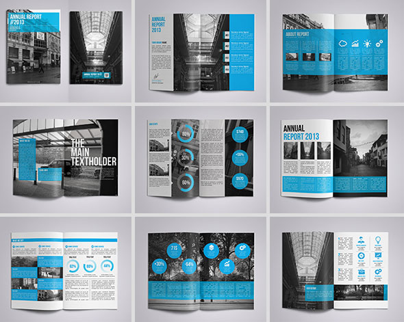 40 best corporate indesign annual report templates web graphic design bashooka. Black Bedroom Furniture Sets. Home Design Ideas