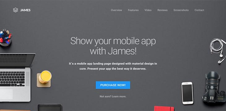 20 best html mobile app landing page templates