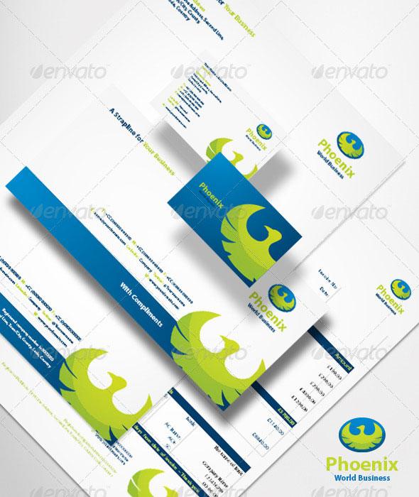 Phoenix World Business Brand Identity System