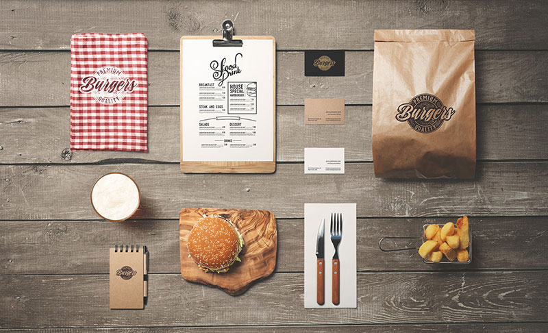 30 High Quality Psd Restaurant Mockup Templates Web