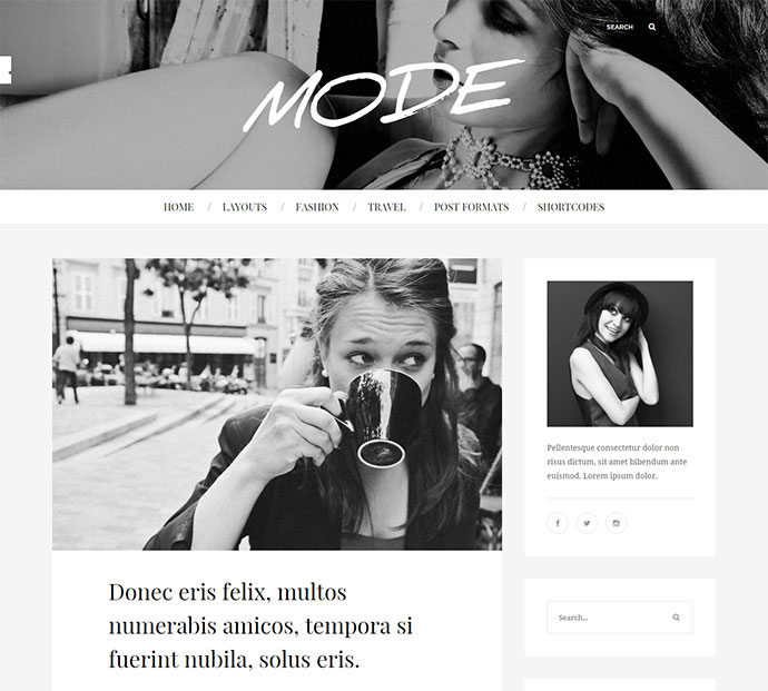 Mode | Fashion Blog Theme