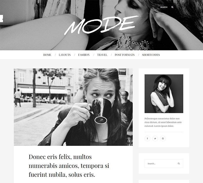 Mode | Fashion Blog Theme
