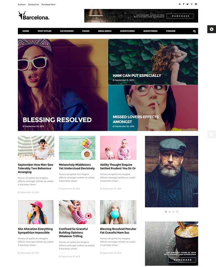 Clean News & Magazine WordPress Theme