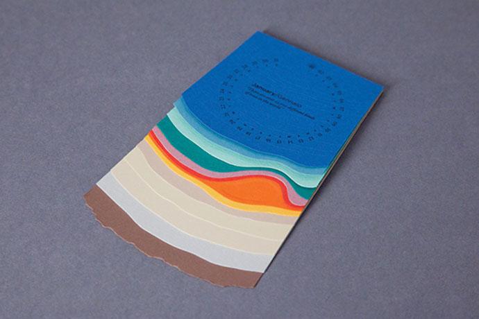 Fedrigoni Desk Calendar 2015 by Jodie-Ann Langley