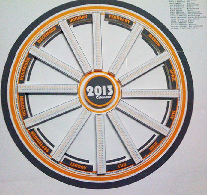3D Infographic Calendar 2013 by Mohit Lakhmani