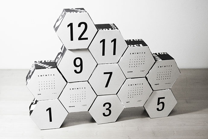 Hexagon Modular Calender by Robin Hilkey