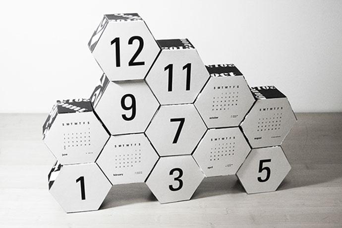 Hexagon Modular Calender by Robin Hilkey