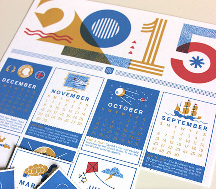 2015 Brave Wall Calendar by Brad Woodard