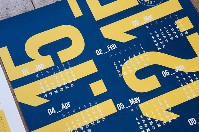 2015 Screen-Printed Calendars  by Charlotte Allen