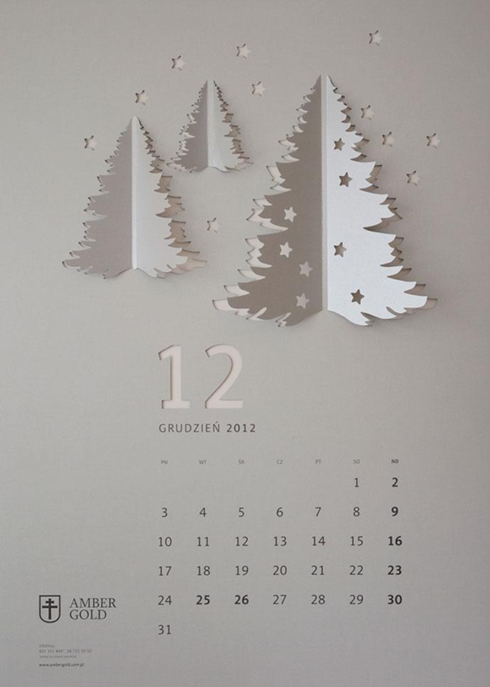 CUT OUT / wall calendar by TOFU STUDIO