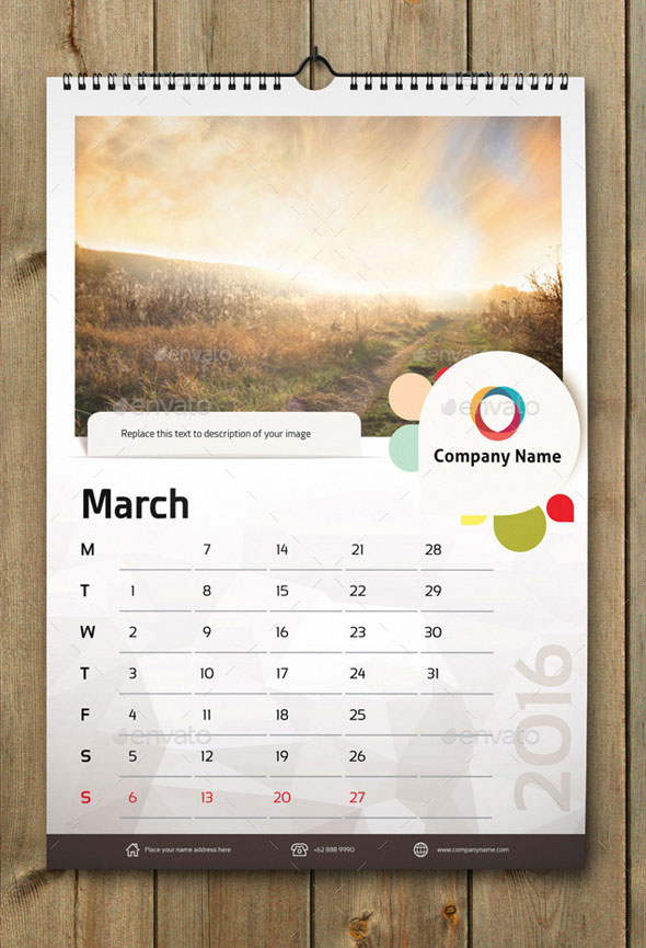 Wall Calendar Design Templates : Best calendar templates for web graphic design