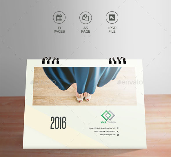 Clean Desktop Calendar 2016