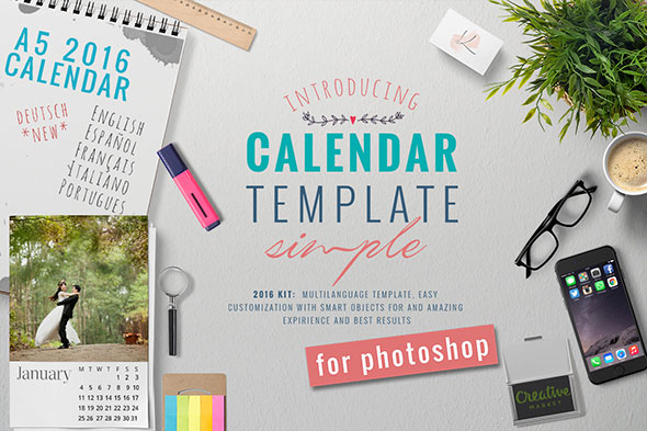 2016 - A5 Calendar Kit