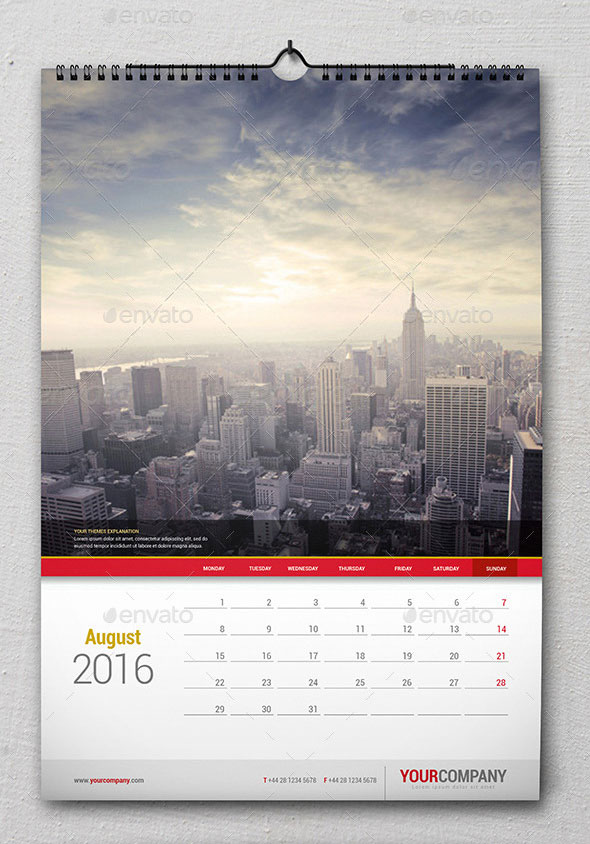 Corporate Calendar Design 2016 : Best calendar templates for web graphic design