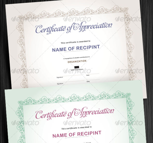 Custom Made Certificates Design