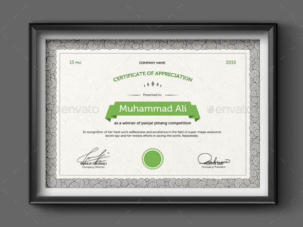 Doodle Certificate Template (round)