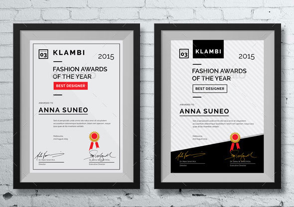 35 best certificate template designs web graphic design bashooka fashion certificate yadclub Gallery