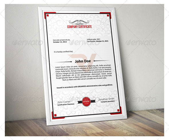Simple Multipurpose Certificate 01