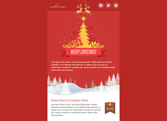 Wonderful Christmas  New Year Email Templates  Web  Graphic