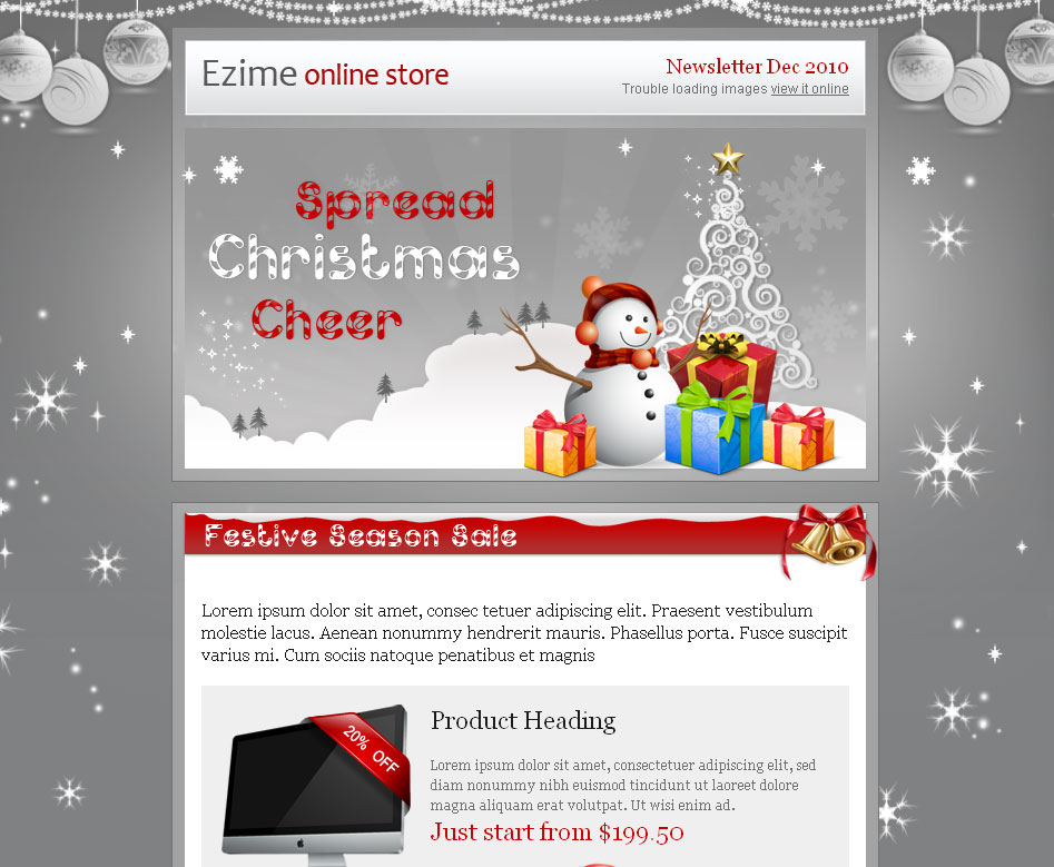 20 wonderful christmas  u0026 new year email templates