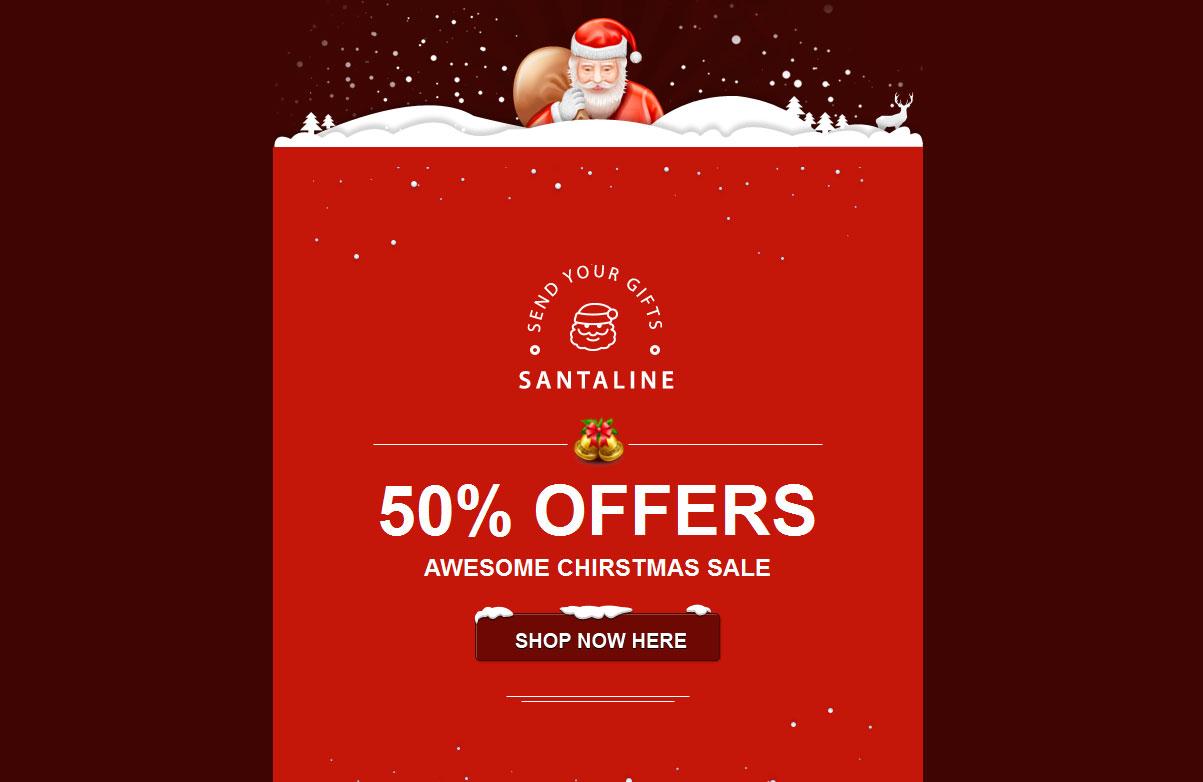 20 Wonderful Christmas & New Year Email Templates – Bashooka