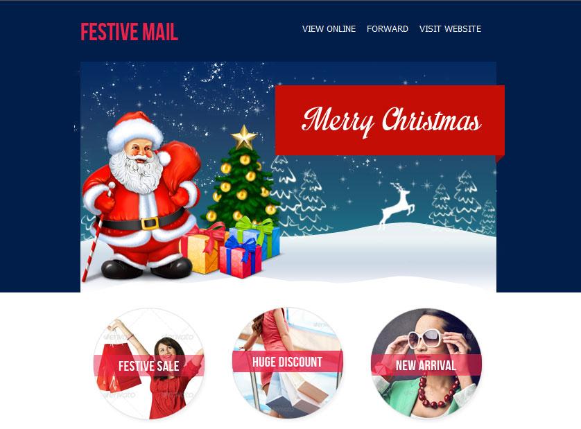20 Wonderful Christmas & New Year Email Templates - Bashooka