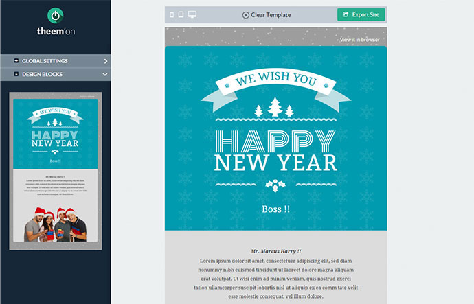 Best Wishes + Email Template + Builder Access