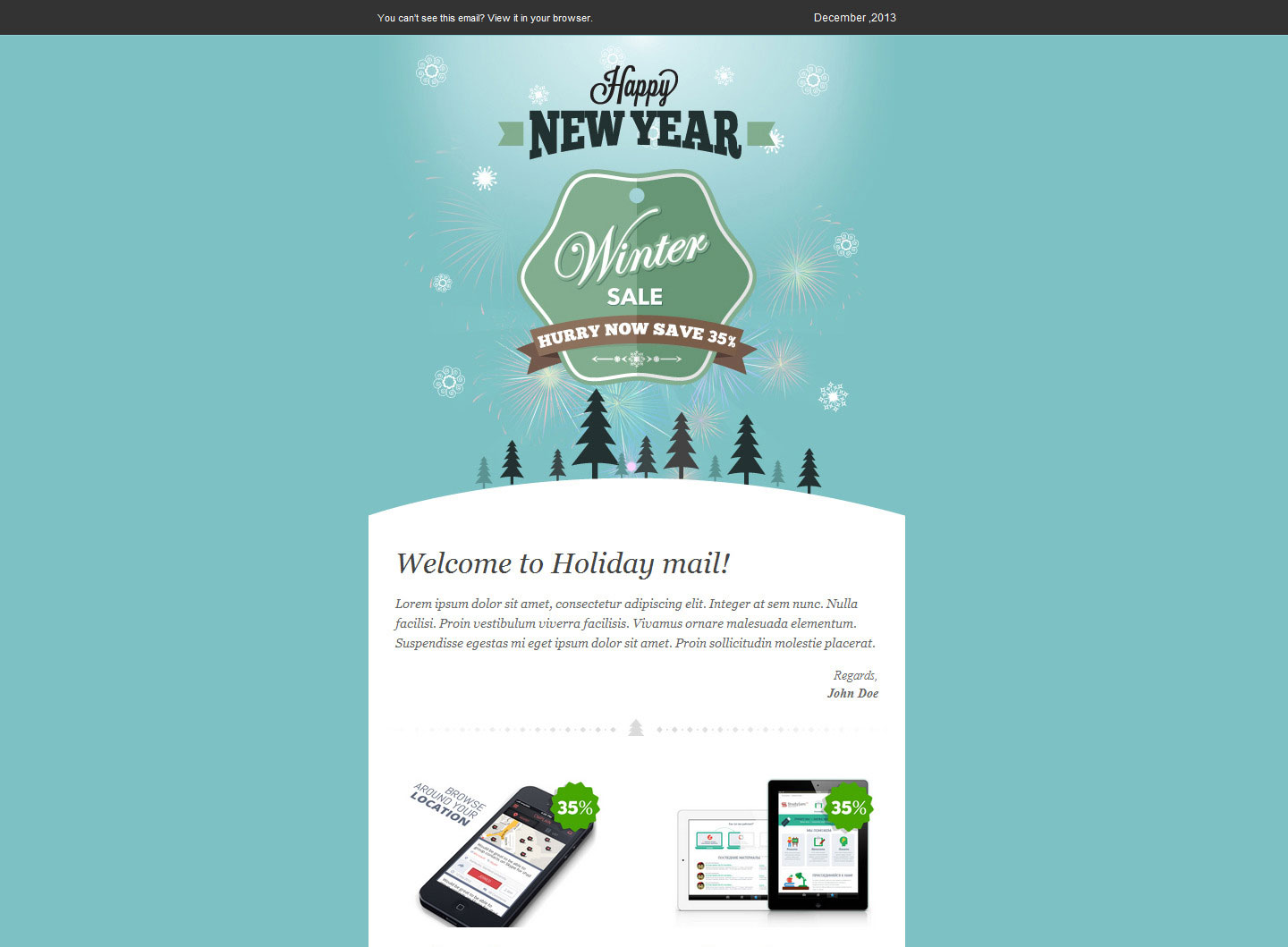 Winter Sale – Responsive Email Templates