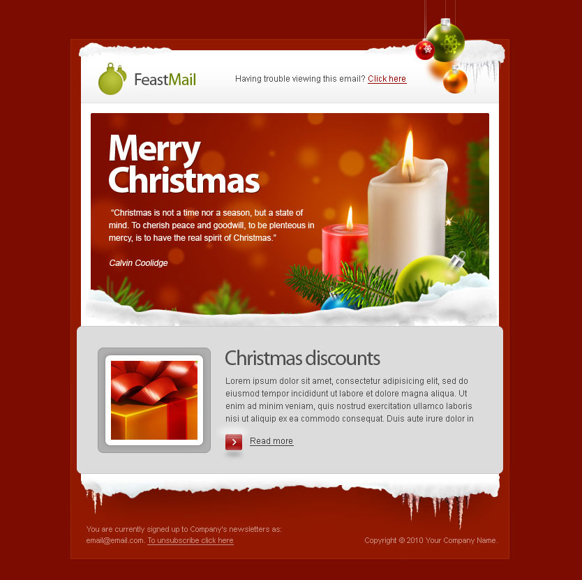20 wonderful christmas new year email templates web graphic design bashooka