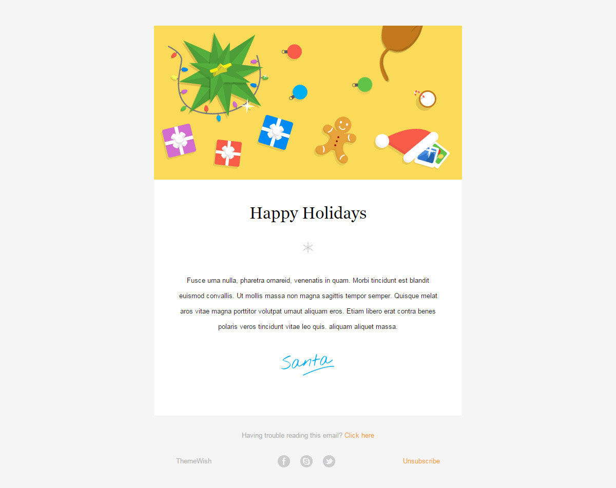 20 Wonderful Christmas New Year Email Templates Web Graphic