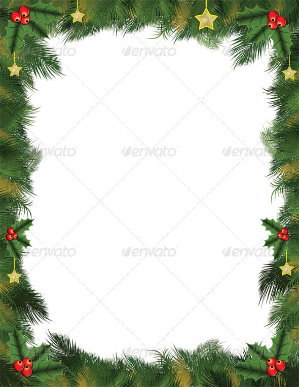 Christmas Card Letter Template Decoration