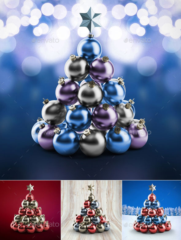 Christmas Ball and Greetings Mockups