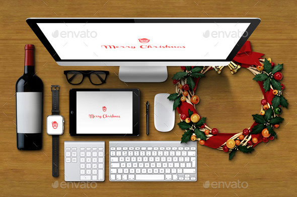 Christmas Responsive Devices Mockup Pack