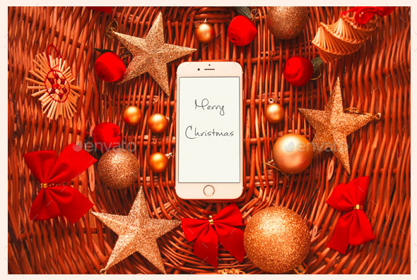 12 Christmas Greetings Mock-Ups