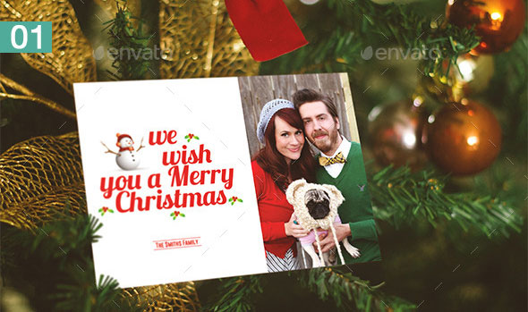 Realistic Holiday Card Mock-Up Vol 1