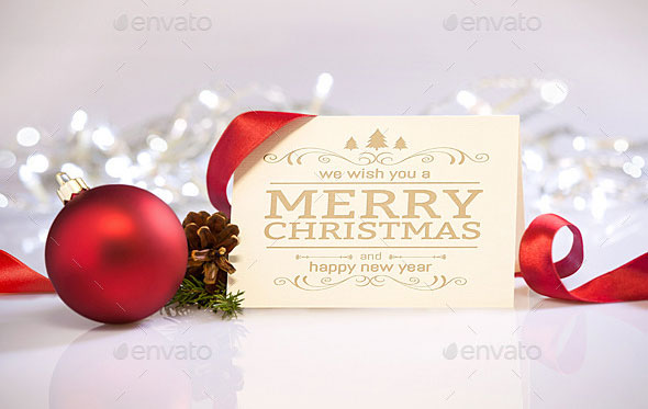 Clean and Elegant Christmas Greetings Mockups