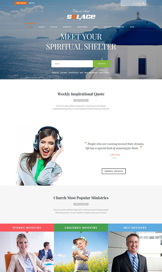 Church Suite - Responsive WordPress Theme