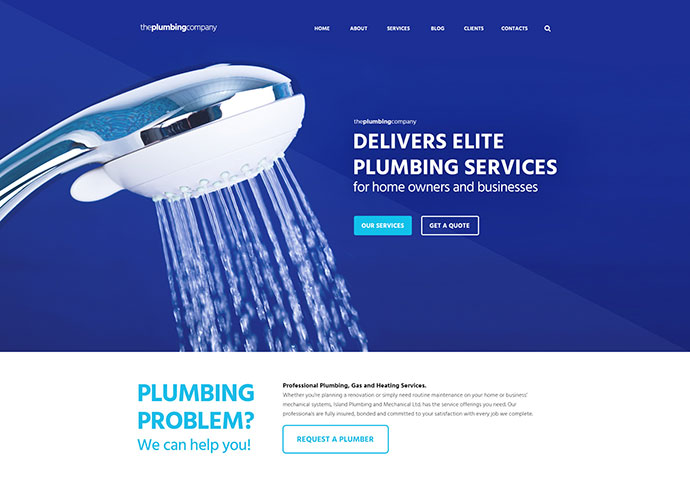 Plumbing - Repair, Building & Construction Theme
