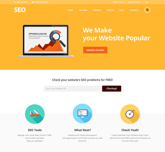SEO & Marketing Services WordPress Themes