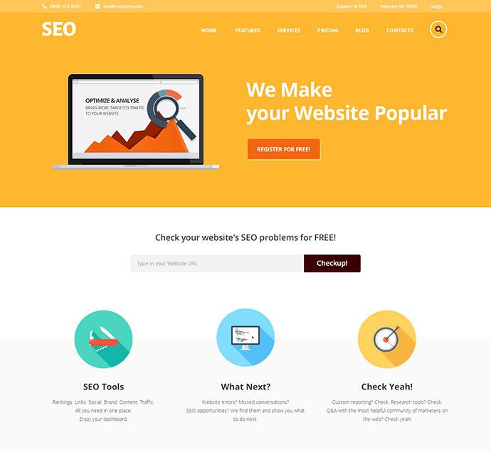 SEO & Marketing Services WordPress Themes