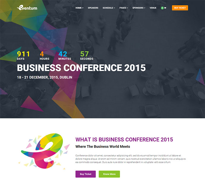 Eventum - Conference & Event WordPress Theme