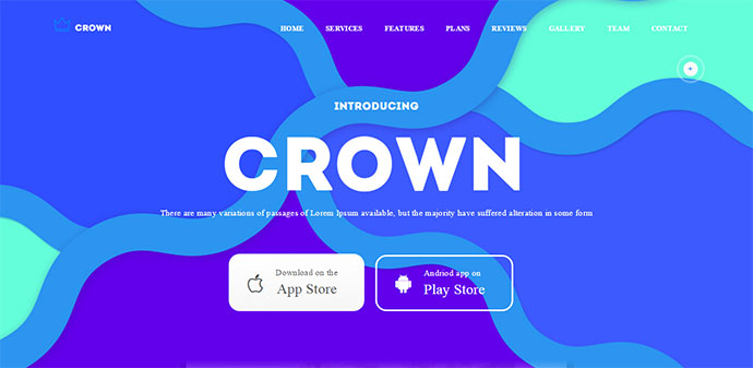 Crown WordPress Landing Page