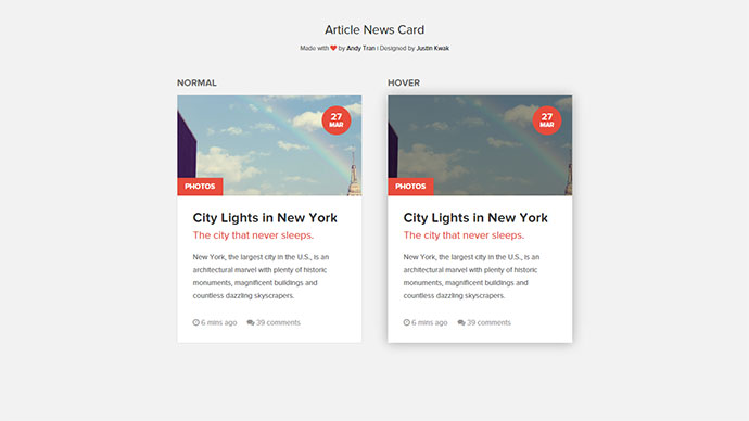 25 cool css card ui examples