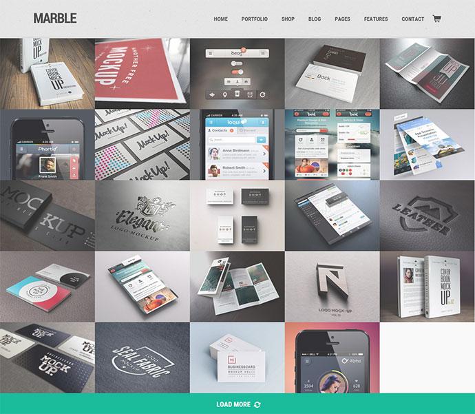 Marble - Flat Responsive Creative WordPress Theme